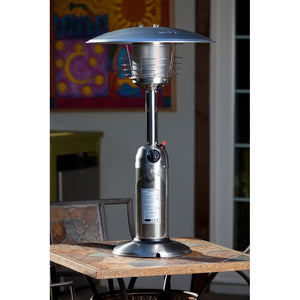 FIRE SENSE Stainless Steel Table Top Patio Heater - Fireplace Features
