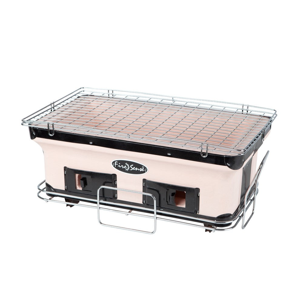 FIRE SENSE Rectangle Yakatori Charcoal Grill - Fireplace Features