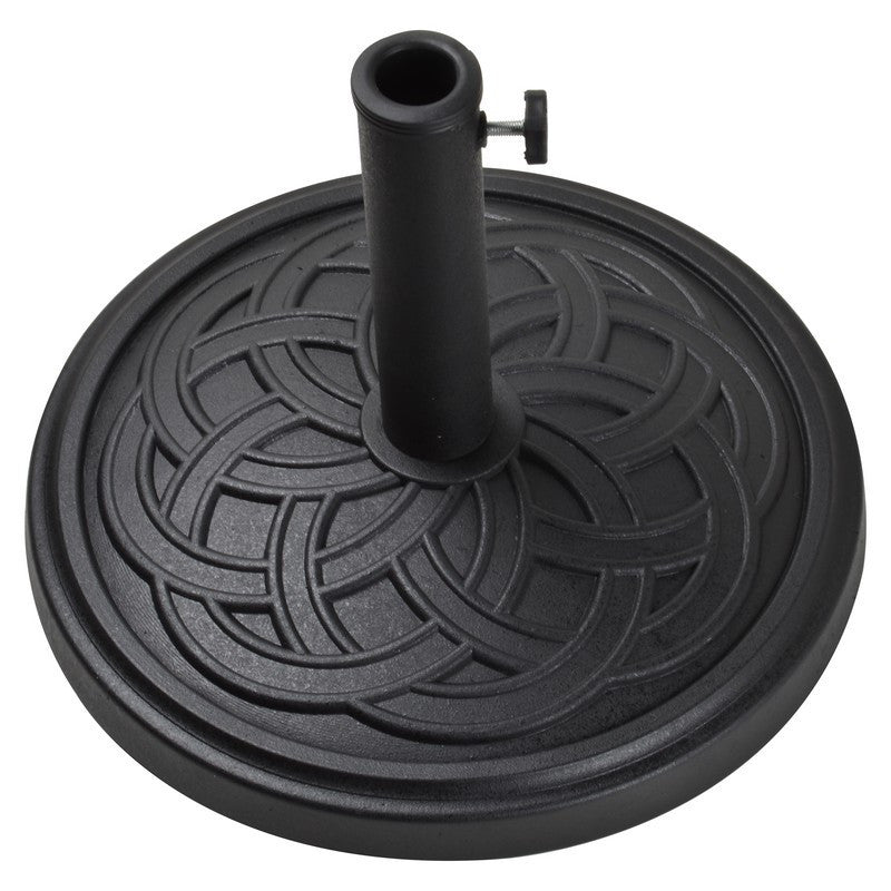 12Kg Gaelen Umbrella Base - Black - Bond Mfg - 60475A - Fireplace Features