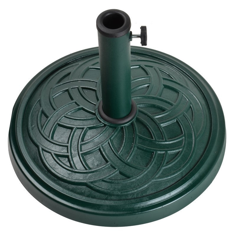 12Kg Gaelen Umbrella Base - Green - Bond Mfg - 60476A - Fireplace Features
