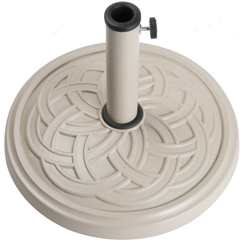 12Kg Gaelen Umbrella Base - Taupe - Bond Mfg - 60477A - Fireplace Features