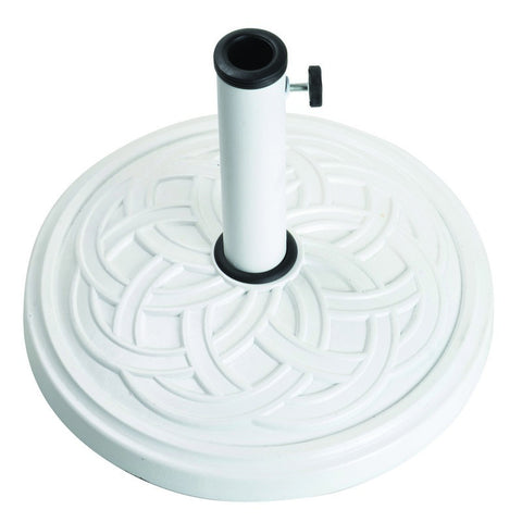 12Kg Gaelen Umbrella Base - White - Bond Mfg - 60478A - Fireplace Features