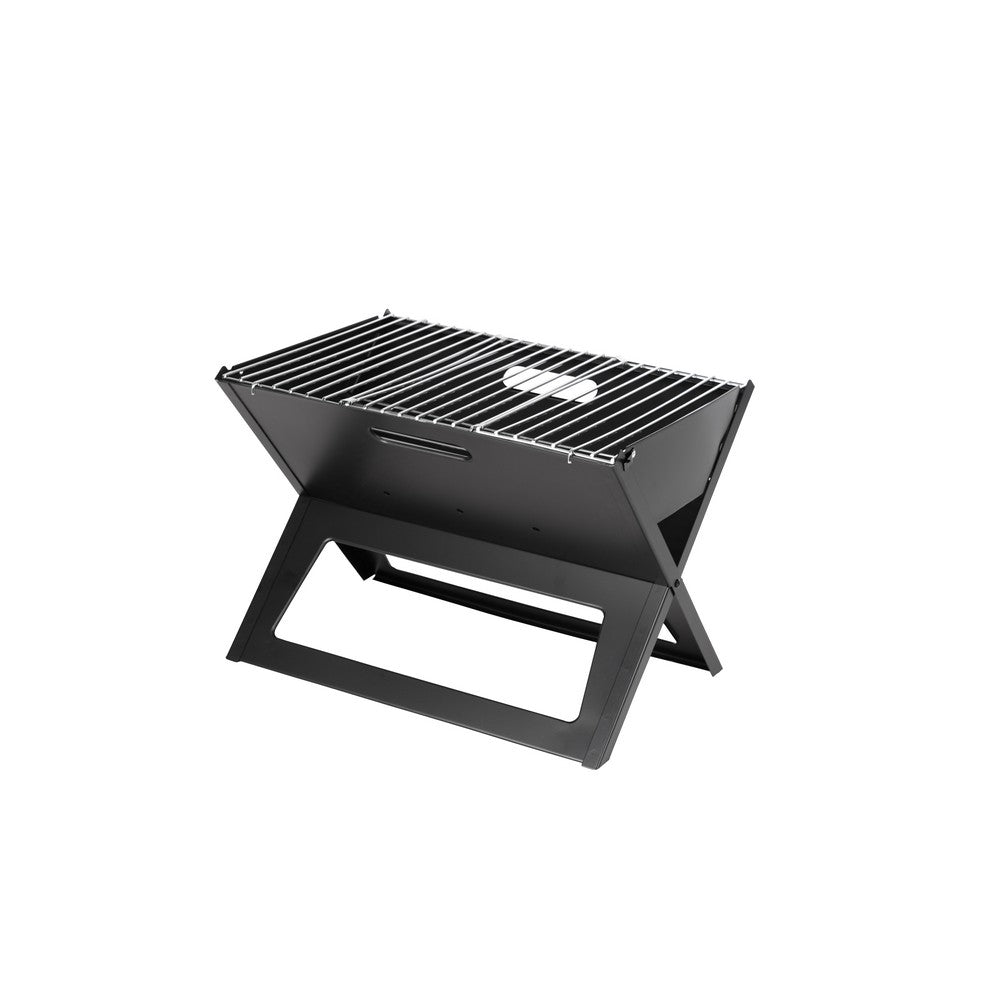 FIRE SENSE Black Notebook Charcoal Grill - Fireplace Features