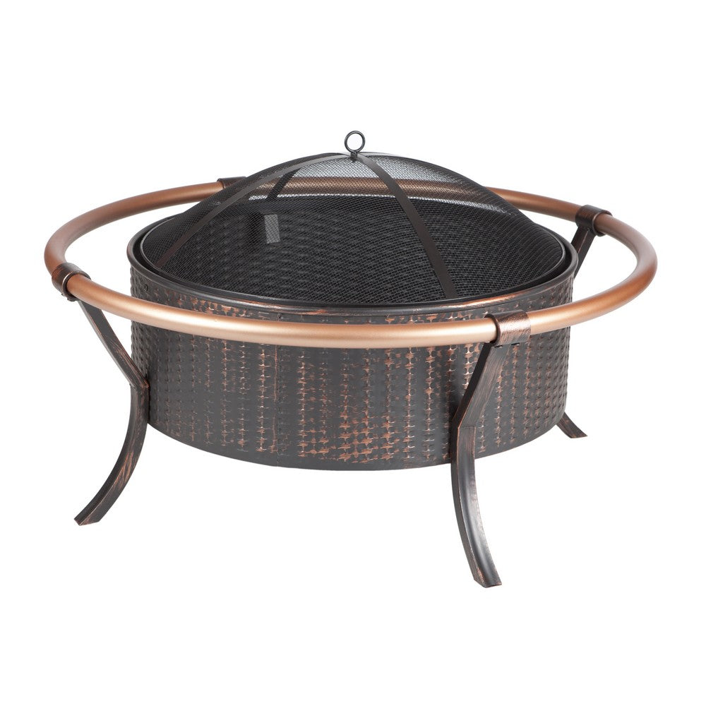 FIRE SENSE Copper Rail Fire Pit - Fireplace Features