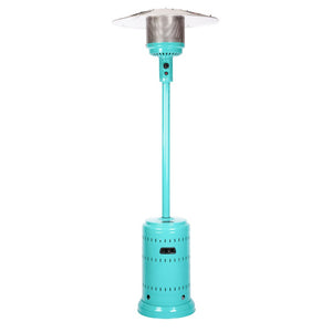 FIRE SENSE Aqua Blue Powder Coated Patio Heater - Fireplace Features