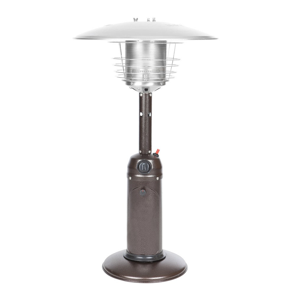 FIRE SENSE Hammer Tone Bronze Finish Table Top Patio Heater - Fireplace Features