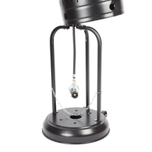 FIRE SENSE Hammer Tone Black & Stainless Steel Commercial Patio Heater - Fireplace Features