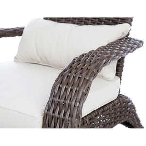 PATIO SENSE Deluxe Coconino Wicker Chair - Fireplace Features