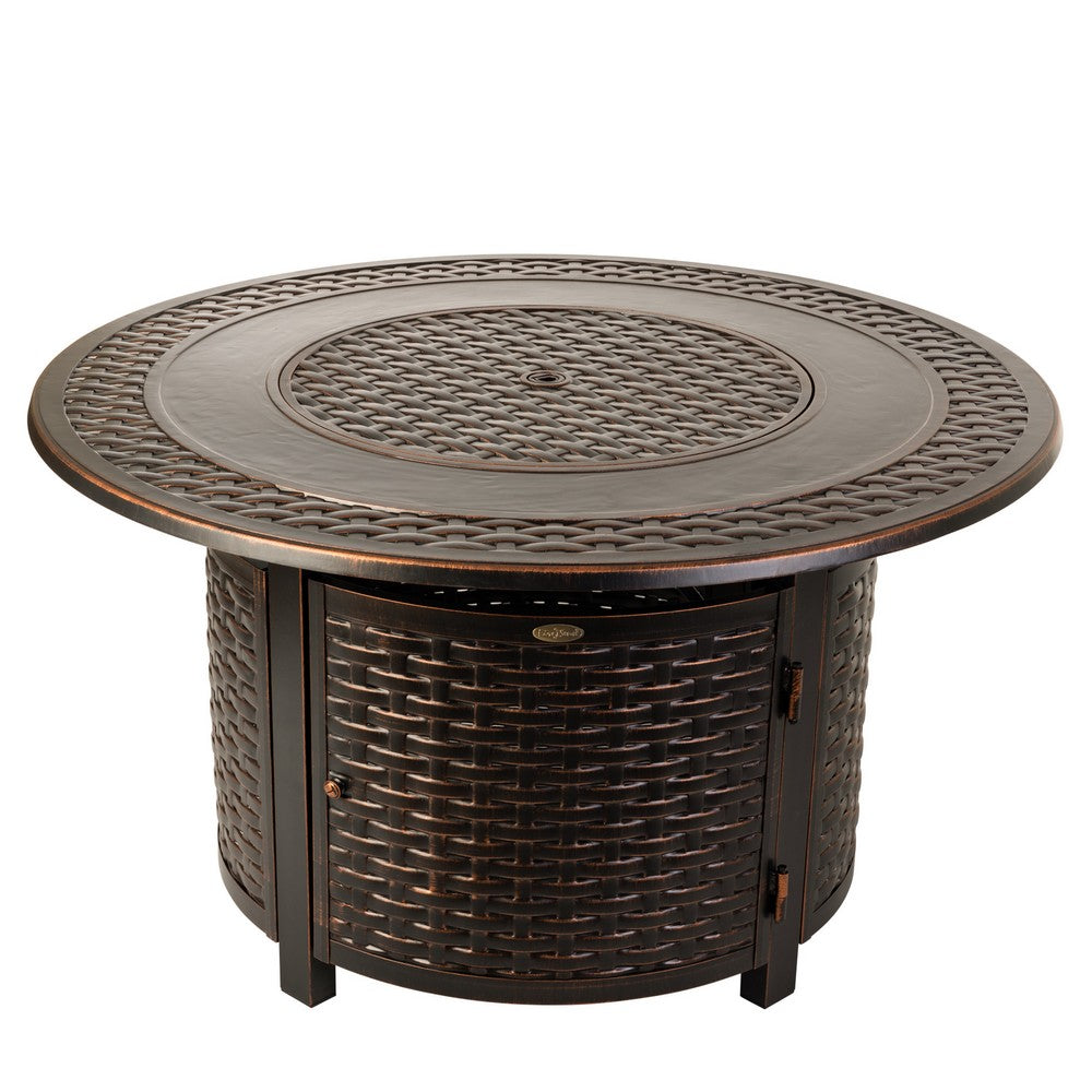 FIRE SENSE Bellante Woven Aluminum LPG Fire Pit - Fireplace Features