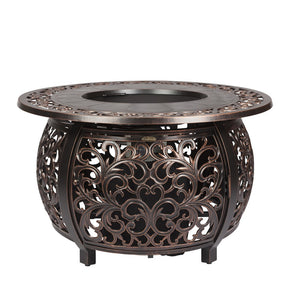 FIRE SENSE Toulon Aluminum Oval  LPG Fire Pit - Fireplace Features