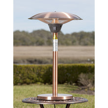 FIRE SENSE Cimarron Brushed Copper Colored Table Top Halogen Patio Heater - Fireplace Features