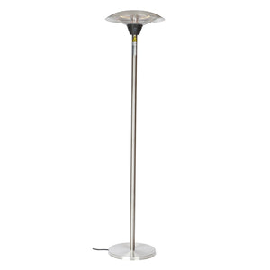 FIRE SENSE Frisco Stainless Steel Halogen Patio Heater - Fireplace Features