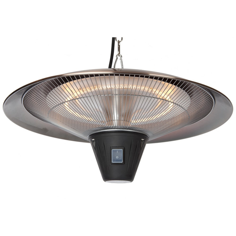FIRE SENSE Gunnison Brushed Copper Colored Hanging Halogen Patio Heater - Fireplace Features