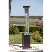 FIRE SENSE Hammered Bronze Finish Square Flame Patio Heater - Fireplace Features