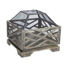 FIRE SENSE Catalano Square Fire Pit - Fireplace Features