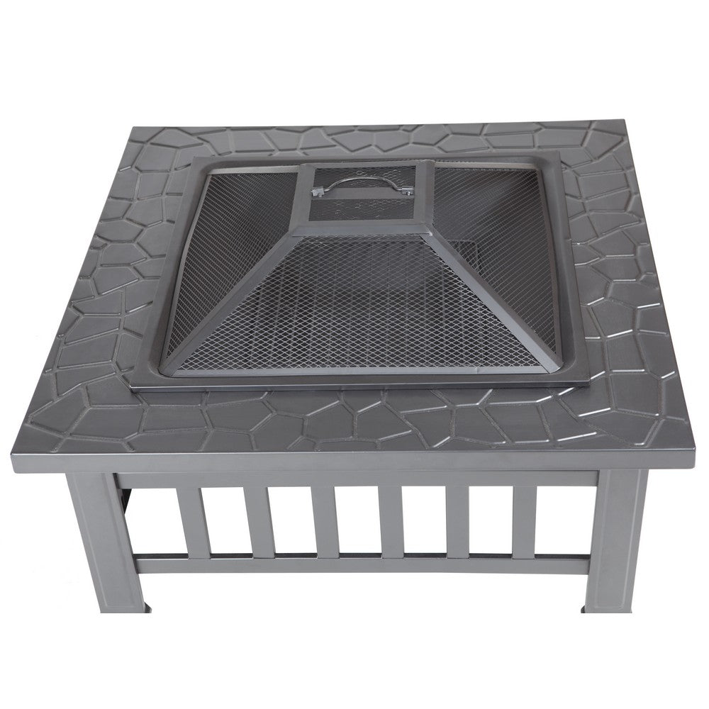 FIRE SENSE Stonemon Square Fire Pit - Fireplace Features