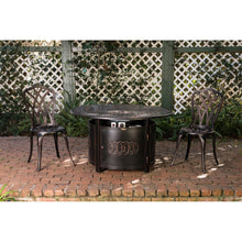 FIRE SENSE Dynasty Round Aluminum LPG Fire Pit - Fireplace Features