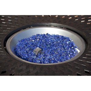 FIRE SENSE Sapphire Blue Reflective Fire Glass - Fireplace Features