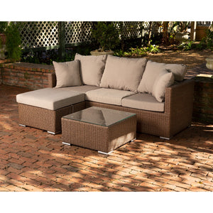 PATIO SENSE  Dorsey Sectional Set - Fireplace Features