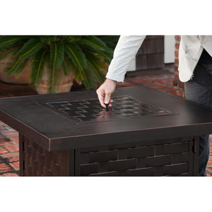 FIRE SENSE Armstrong Cast Aluminum LPG Fire Pit Table - Fireplace Features