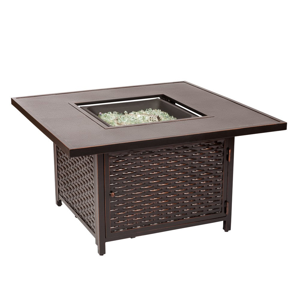 FIRE SENSE Baker Aluminum LPG Fire Pit Table - Fireplace Features
