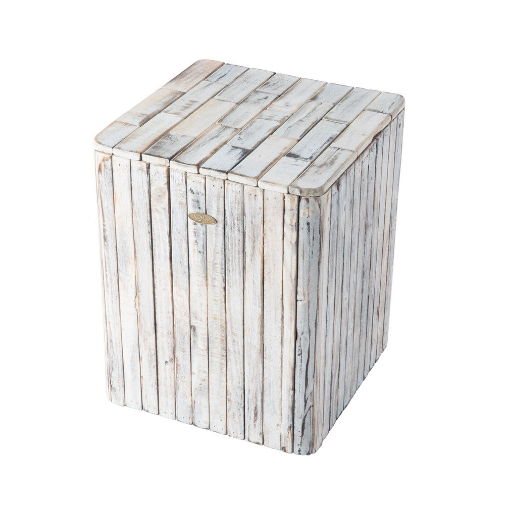 PATIO SENSE Michael Square Garden Stool - Fireplace Features