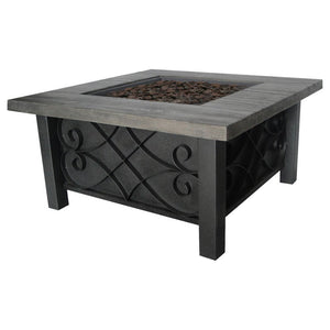 Marbella Steel Gas Fire Table - Bond Mfg - 67531 - Fireplace Features