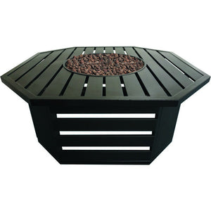 Roscoe Steel Gas Fire Table - Bond Mfg - 67811A - Fireplace Features