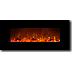"TOUCHSTONE ONYX 50"" Black Wallmount Fireplace"