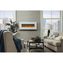 "TOUCHSTONE ONYX 50"" White Wallmount Fireplace"