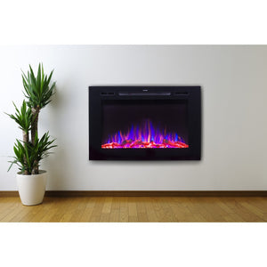 "TOUCHSTONE FORTE 40"" Black Wallmount Fireplace"