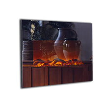 "TOUCHSTONE ONYX Mirror 50"" Black Wallmount Fireplace"