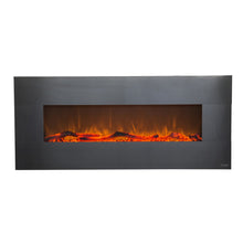 "TOUCHSTONE ONYX Stainless 50"" Stainless Steel Wallmount Fireplace"