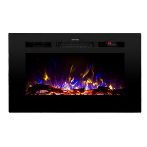 "TOUCHSTONE SIDELINE 28"" Black Wallmount Fireplace"