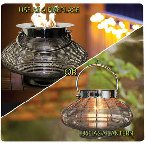 "ANYWHERE FIREPLACE VENUS 10.5"" Bio-Ethanol Lantern - Fireplace Features"