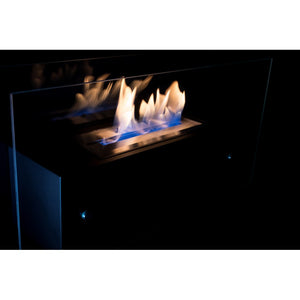 "BIO-BLAZE VALETTA LARGE LOW GLASS 33"" Freestanding Ethanol Fireplace - Fireplace Features"