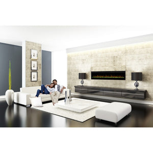 Dimplex Prism Series Electric Fireplace Wall-Mounted With Acrylic Ember Bed - Fireplace Features