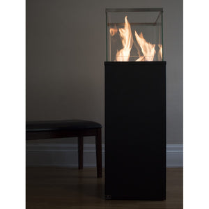 "BIO-BLAZE COLUMN (TALL) 15½"" Freestanding Ethanol Fireplace - Fireplace Features"