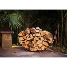 "FIRE PIT ART CRESCENT LOG RACK - STAINLESS 39"" Stainless Steel Firewood Rack - Fireplace Features"