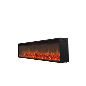TOUCHSTONE EMBLAZON Series Black Linear Wall Mount/Built In Fireplace