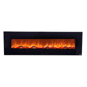 "TOUCHSTONE ONYX XL 72"" Black Wallmount Fireplace"