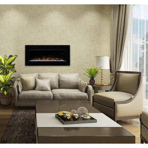 "Dimplex Nicole 43"" Electric Fireplace Wall-Mounted With Acrylic Ember Bed - Fireplace Features"