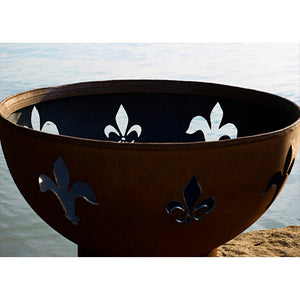 "FIRE PIT ART FLEUR DE LIS 36"" Fire Pit - Fireplace Features"