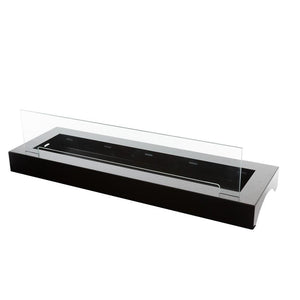 "39"" Bloc Ethanol Fireplace Burner Insert with Black Fuego Box - Bio-Blaze - BB-BLL-FB - Fireplace Features"
