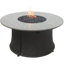 Lp Gas Outdoor Firebowl With Granite Mantel GAD1375SP Mr BBQ - Fireplace Features