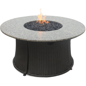 Lp Gas Outdoor Firebowl With Granite Mantel GAD1375SP Blue Rhino - Fireplace Features