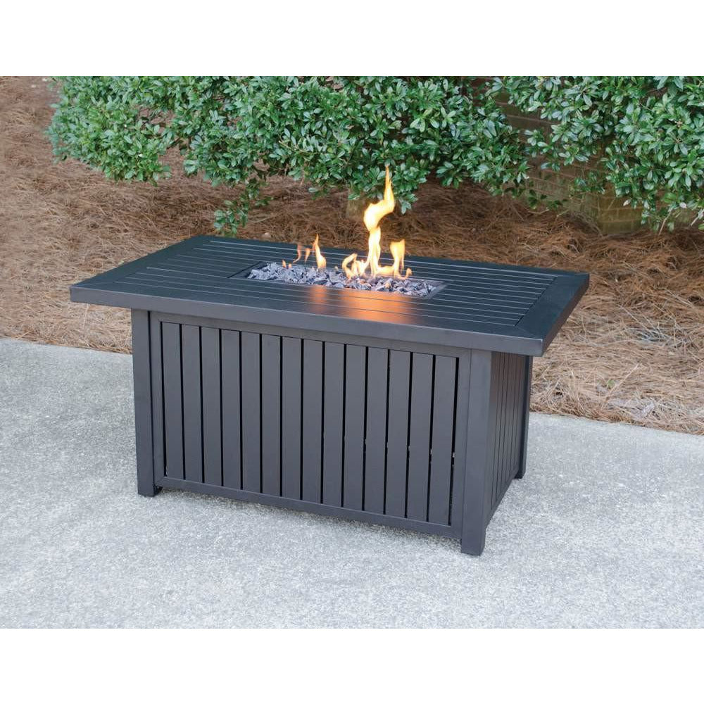 LP Gas Outdoor Fire Table with Aluminum Mantle - GAD17101SP Mr BBQ - Fireplace Features