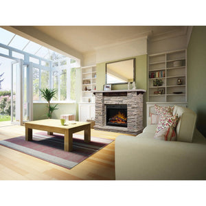 Dimplex Featherstone Mantel Electric Fireplace - Fireplace Features