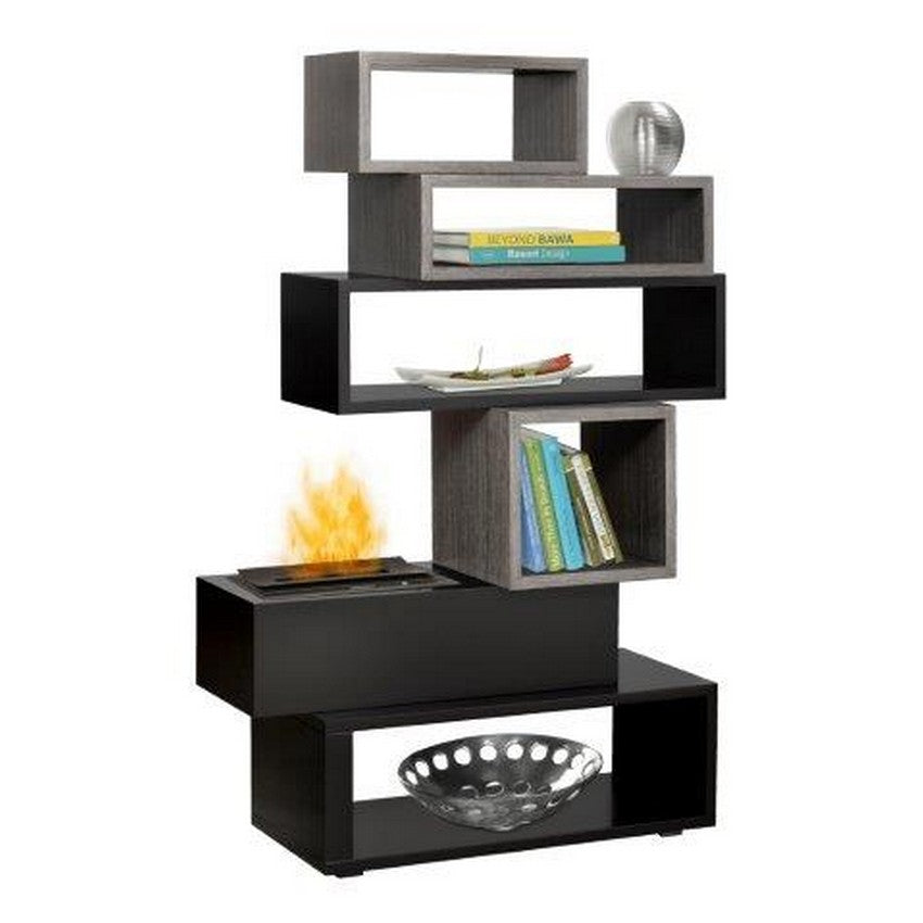 Dimplex Mimico Bookcase Mantel With Opti-Myst® Flame - Fireplace Features