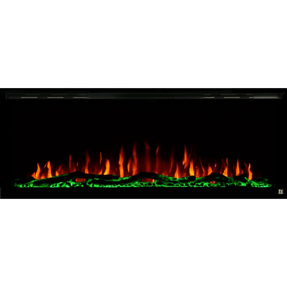 Touchstone Sideline Elite 60 Quot Black Wallmount Fireplace